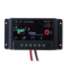 Digital PWM 10A Solar Controller Regulator 12V 24V Autoswitch Solar Panel #TLC