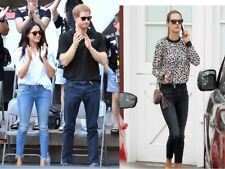 MOTHER THE LOOKER COFFEE TEA OR ME Crop Fray Skinny Jeans Cropped Meghan Markle