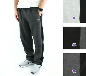 Champion Men's Jogger Sweatpants Fleece Active Athleticwear Gym Pant Side Stripe