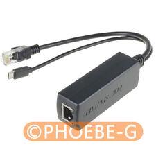 Active PoE Splitter Power Over Ethernet 48V to 5V 2.4A Micro USB 4 Raspberry Pi