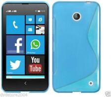 Custodie preformate/Copertine Blu Per Nokia Lumia 630 per cellulari e palmari