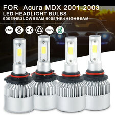 LED Leadlamp 6000K White Kit 9005 9006 High Low Beam For Acura MDX 2001-2003