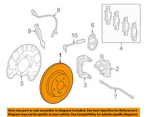 MERCEDES OEM 16-17 GLE550e Rear Brake-Rotor 1664230600