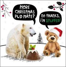 Más PUD mate? animales graciosos Crackerjack Tarjeta de saludo humor Tarjetas de Navidad