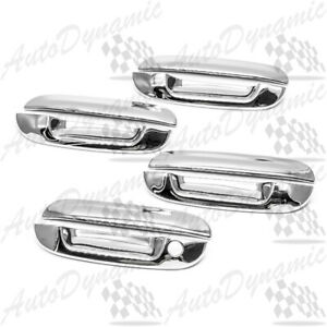 FOR 2006-2010 CADILLAC DTS 04-07 BUICK RAINIER CHROME DOOR HANDLE COVER COVERS