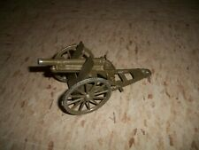 Vintage Metal Made in Japan Toy Canon Anti tank gun artillery toy shoots works