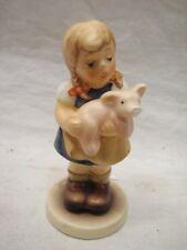 GOEBEL HUMMEL FIGURE 2052 PIGTAILS 1999/2000 CC CLUB PIG TAILS GIRL FARMER FARM