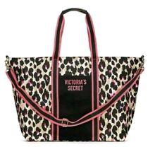 Victoria's Secret Wild Weekender Bag Leopard Zip Adjustable Strap Tote NWTag-$68
