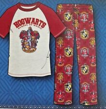 Harry Potter Men's 2-Piece Sleepwear Set Pajamas Size L Large Fleece Pants NEW