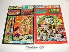 Tarzan Family #60 & 61 Comic Lot DC 1975 Korak John Carter Giant Joe Kubert RARE