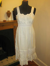 LAURA LEES MAINLINE DRESS £160 S 10 white new embroidery boho wedding