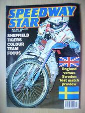 SPEEDWAY STAR, 10 July 1993- Sheffield Tigers Colour Team Focus:ENGLAND v SWEDEN