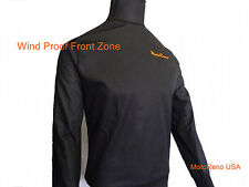Cold Weather Under/Mid Layer Base Wind Proof Front Panel Motorcycle Shirt Large