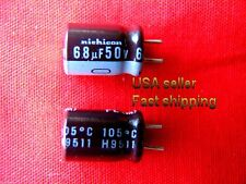 50 pcs  -  68uf  50v  Nichicon  low ESR electrolytic capacitors