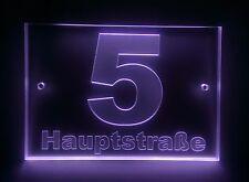 Design Hausnummer,Graviertes Acrylglas, LED, Nr 5 in dunkelgrau oder nach Wunsch