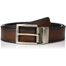 $45 Perry Ellis Men's Portfolio Beveled Reversible Casual Belt Brown 40 Reg