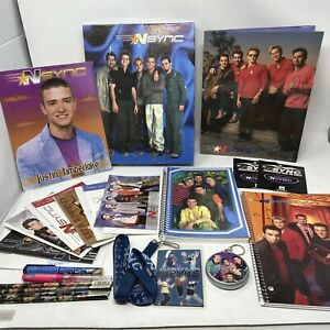 NEW Vintage NSYNC Justin Timberlake Collectible Memorabilia In Box 20 Pieces!