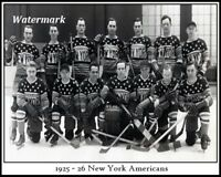 NHL 1925 - 26 New York Americans Team Photo Picture 8 X 10 Photo Picture