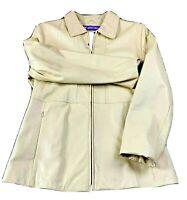 Wilson Pelle Studio Women's Size M Buff Tan Leather Jacket