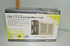Iogear HighSpeed Usb 2.0 Dual Port Card Bus Pc Card Gpu202 Brand New Sealed