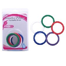 Colorful Sex Penis Ring Erection Enhancement 5 Piece Cock Ring Kit