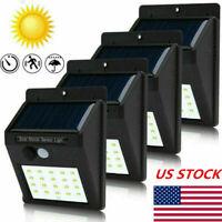 4X Outdoor Solar Lights Motion Sensor Wall Light Waterproof Garden Yard 30 LED