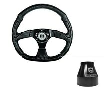 "Pro Armor Assault 13.5"" D Steering Wheel Kit With Black Adapter Hub Carbon Fiber"