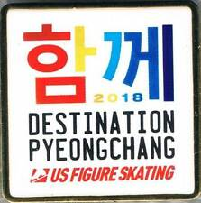 2018 PyeongChang Destination PyeongChang US Olympic Figure Skating Team Pin