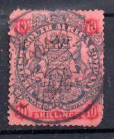 Rhodesia 1896-97 10/- Slate Vermillion SG50 used WS9606