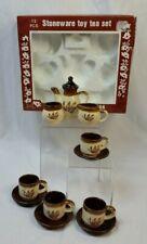 Miniature Stoneware toy tea set Summco 12 piece vintage original box