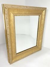 Wall Mirror Beveled Glass Gold Frame Accent Textured Matted 13.75 x 11.75