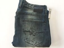 Guess Men's Slim Straight Jeans Griffith Wash Reptile Finish Size 32