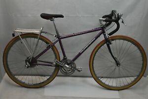 "2000 Mongoose Crossway 625 Gravel Road Bike 16"" Medium Purple Steel USA Charity!"