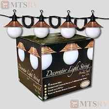 Tasco RV Patio/Awning String Light Set - 4 White Globes w/Bronze Shades PL-04-BB