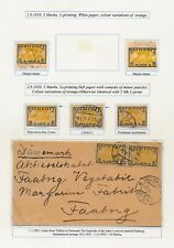 Estonia. 1919-21. Album page older stamps and cover - 2 SCANS