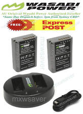 Wasabi Power 1300mah Battery X 2 & Dual USB Slot Charger for Olympus Bln-1 Bcn-1