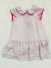Baby Girl Beige Patterned Short Sleeve Dress Age 9-12 months from Zara
