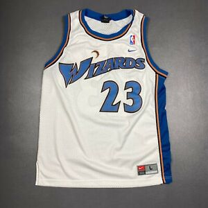 100% Authentic Michael Jordan Wizards Nike Swingman Jersey Size L 44 Mens