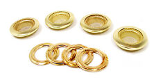 """4pc. Beautiful Shiny 1"""" Brass Screened Grommets with Matching Washers"""