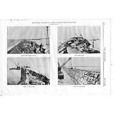 1903 ingeniería 2 Antiguo Impresiones-Construcción de Buffalo Harbour, New York