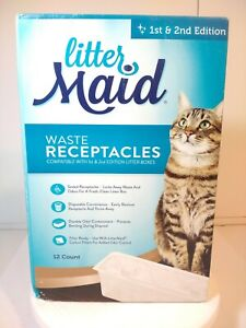 Litter Maid Waste Receptacles For 1st & 2nd Edition 12 Ct