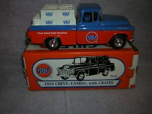 2004 Gulf Gas Station Diecast. 1955 Chevy cameo pickup Item number is 21451 P.