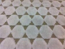 Manuel Canovas Hexagon Cut Velvet Upholstery Fabric Toulon Neige 1.75 yd 4873-01