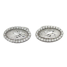 18K White Gold Diamond Cuff Links 2.50ct