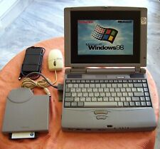 Win 98 Toshiba Tecra 520-CDT 4GB Pentium Floppy Serial Parallel Dos USA made cds