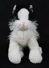 Webkinz Black and White Cat Plush HM016 Ganz No Code 8""