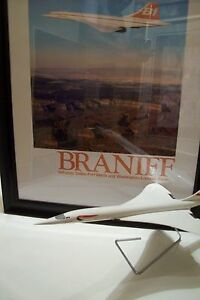 1 Concorde Braniff Service 79/80 Framed Poster see info for size and images