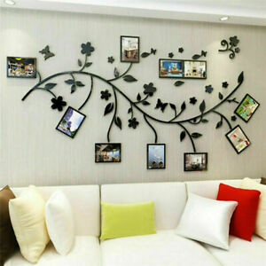 3D Family Tree Branch Photo Frame Wall Sticker DIY Acrylic Art Decals Home Decor