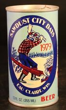 Vintage 1979 Sawdust City Days Eau Claire Wisconsin Beer Can Good Cond-54T!