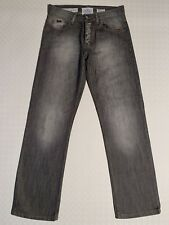 Mens Easy 100% Cotton Straight Jeans W30 L32 Faded Grey